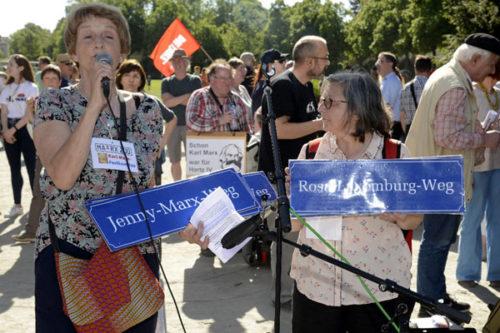 Einweihung des Jenny-Marx- und des Rosa-Luxemburg-Wegs (Foto: Helmut-roos@web.de)