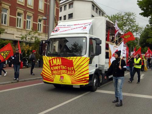 LKW der Gewerkschaftsjugend. (Foto: Avanti²)