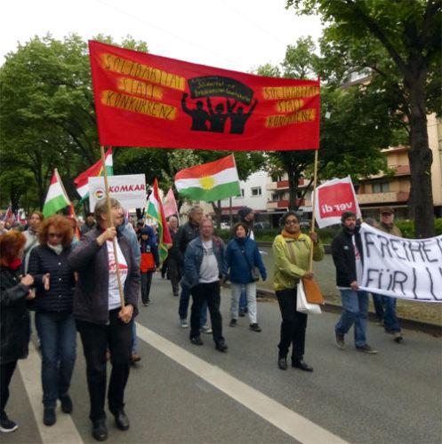 Solidarität mit brasilianischen Gewerkschaften. (Foto: Avanti²)
