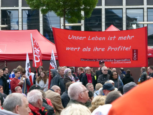 Kundgebung am Marktplatz. (Foto: Avanti²)