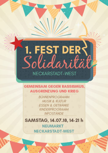 Flyer 1. Fest der Solidarität