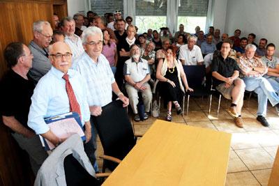 Arbeitsgerichtsprozess wegen der Kündigung von Nora-BR Helmut Schmitt, am 24. August 2012 in Mannheim