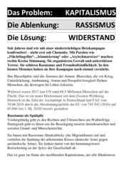 Flugblatt der ISO Rhein-Neckar für die Mannheimer Demonstration am 03.10.2018