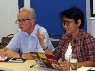 Die philippinische Menschenrechtsaktivistin Mabel Carumba am 20. September 2018 in Mannheim