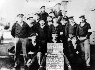 Soldatenrat an Bord des Linienschiffs Prinzregent Luitpold