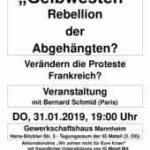 thumbnail of Veranstaltung Gelbwesten; 31.01.19