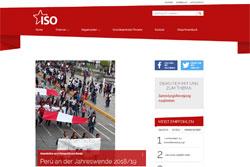 Webseite der Internationalen Sozialistischen Organisation