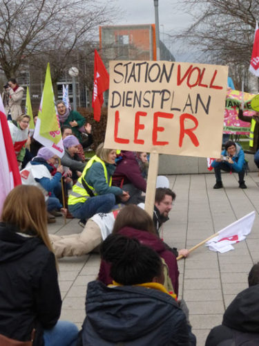 Warnstreik am Uniklinikum Heidelberg, 25. Januar 2018 (Foto:Avanti²)