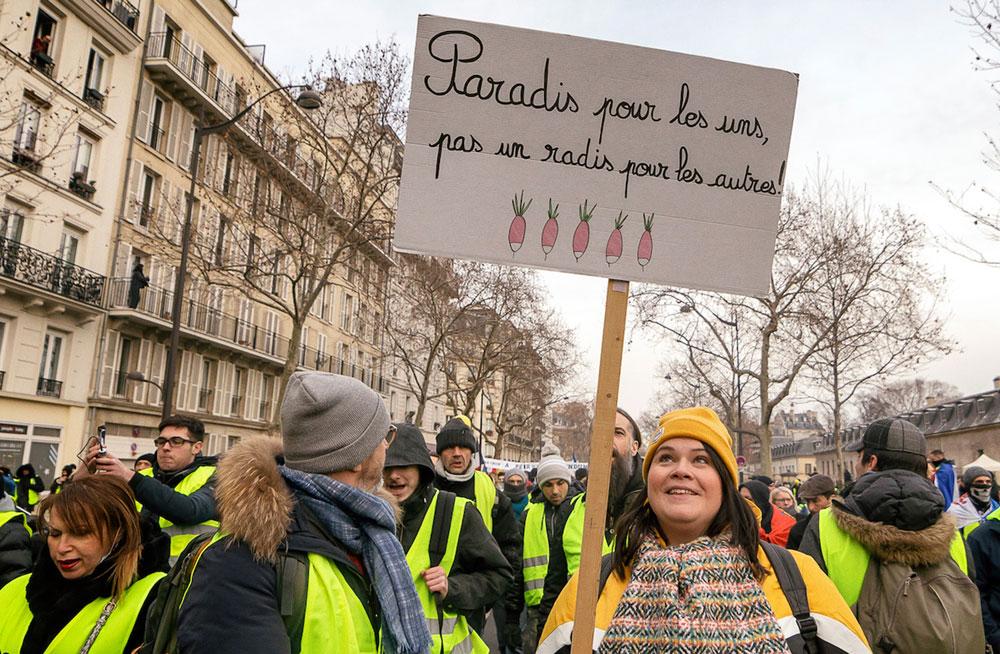 Paradies für die Einen, kein Radieschen für die Anderen, Paris - 19. Januar 2019 (Foto:Photothéque Rouge, Martin Noda)