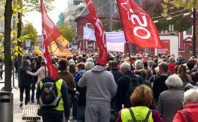 Demonstration gegen Rassismus am 3. Oktober 2018 in Mannheim.