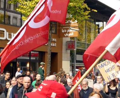 Demonstration gegen Rassismus am 3. Oktober 2018 in Mannheim (Foto: Avanti)