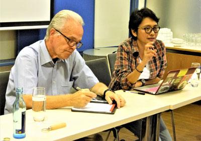 Die philippinische Menschenrechtsaktivistin Mabel Carumba am 20. September 2018 in Mannheim (Foto: Privat)