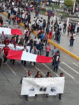 Zweite Protest-Demo auf der Plaza des Armas in Ayacucho (Peru), 02. Januar 2019 (Foto: Helmut Dahmer)