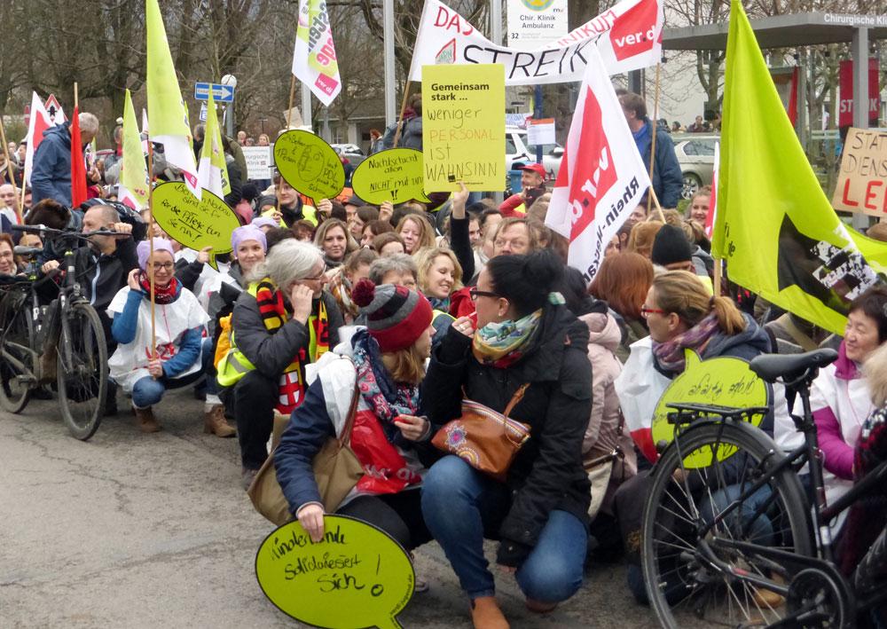 Protestaktion am Uniklinikum Heidelberg, 25. Januar 2018 (Foto: Avanti²)