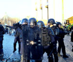 """Polizei im Einsatz gegen """"Gelbwesten"""" in Paris am 23. Februar 2019 (Foto: Photothèque Rouge, Martin Noda)"""