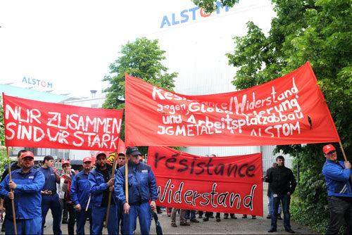Protest bei Alstom Mannheim, 13. Mai 2014 (Foto: helmut-roos@web.de)