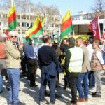 """Auftakt der Demo """"Hände weg von Rojava!"""" in Mannheim, 30. März 2019 (Foto: AvantI²)"""