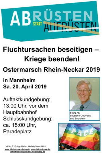 Flyer Ostermarsch Rhein-Neckar 2019