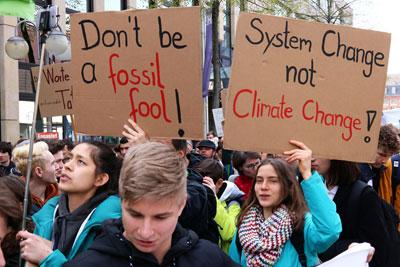 Demo von Fridays for Future in Mannheim, 12. April 2019 (Foto: F. Hofmann)