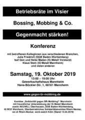 """2019-10-19 Konferenz gegen BR MOBBING """"Betriebsräte im Visier"""""""