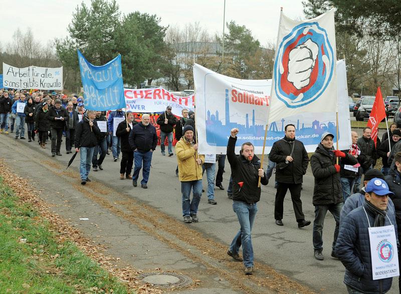 Demo gegen GE in Bexbach, 12. Dezember 2016