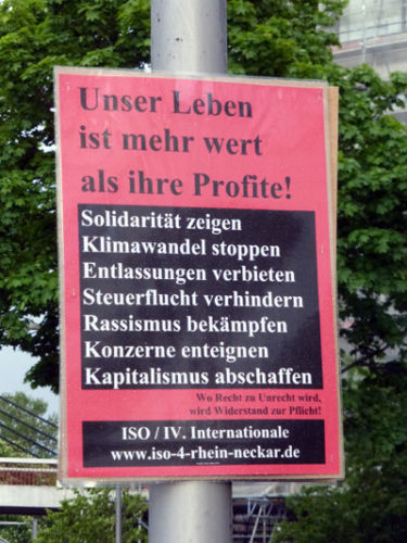 ISO-Plakat in Mannheim, 26. April 2019 (Foto: Avanti²)