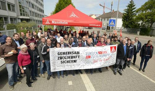 Aktive Mittagspause bei Bombardier, 16. Mai 2019 (Foto: helmut-roos@web.de)