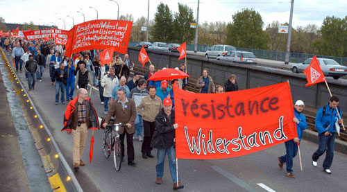 Protestdemo von Alstom-KollegInnen in Mannheim, 25. April 2005 (Foto: helmut-roos@web.de)