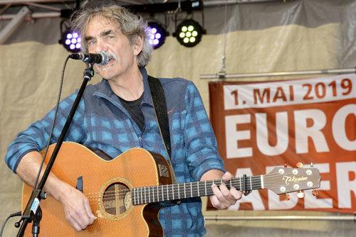 Bernd Köhler am 1. Mai 2019 (Foto: helmut-roos@web.de)