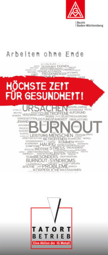 Plakat zur IGM-Kampagne Tatort Betrieb im Bezirk Baden-Württemberg (Foto: Privat)