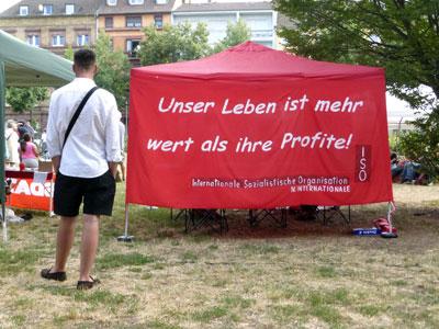 Infostand beim Fest der Solidarität in der Neckarstadt, 07. Juli 2019 (Foto: Avanti²)
