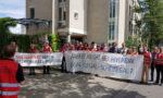 Protest gegen Hyundai vor dem Arbeitsgericht Darmstadt, 08. August 2019 (Foto: Privat)