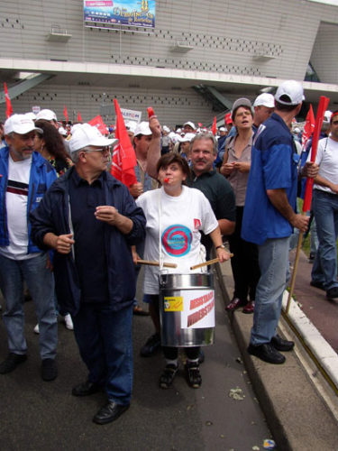Internationale Demo von Alstom-KollegInnen in Paris, 02. Juli 2003 (Foto: Privat)