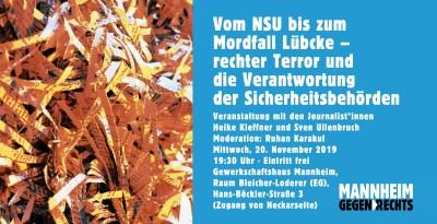 Veranstaltung Vom NSU bis ... am 2019-11-20 Banner