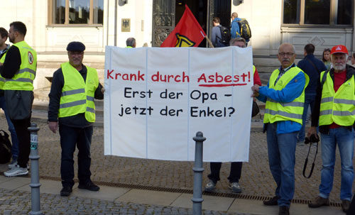Asbestaktion in Berlin, 26. September 2019 (Foto: Privat)