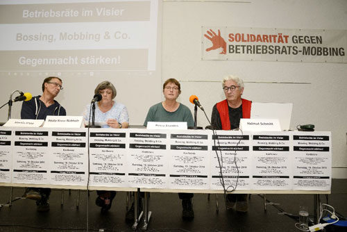 "Podium der Konferenz ""BR im Visier"" in Mannheim, 19. Oktober 2019 (Foto: helmut-roos@web.de)"