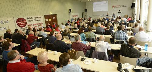 """Plenum der Konferenz """"BR im Visier"""" in Mannheim, 19. Oktober 2019 (Foto: helmut-roos@web.de)"""