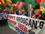 Protest in Mannheim gegen Erdogans Überfall auf Nordsyrien, 12. Oktober 2019 (Foto Avanti²)