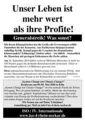 Flugblatt der ISO Rhein-Neckar zum Klimastreik am 29.11.2019 in Mannheim