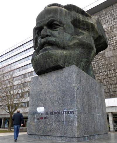 Marx-Denkmal in Chemnitz, 26. Februar 2017 (Foto: Avanti²)