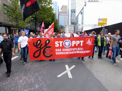 Protest gegen GE in Frankfurt/Main, 17. September 2016 (Foto: Avanti²)