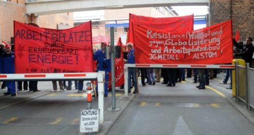 Aktionstag bei Alstom Mannheim, 29. April 2014 (Foto: helmut.roos@web.de)