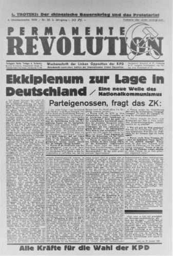 Permanente Revolution, Zeitung der ILO (Foto: Privatarchiv)