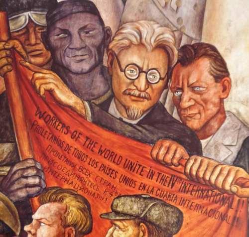 """Ausschnitt aus Diego Riveras Fresko """"Der Mensch am Scheideweg / Der Mensch kontrolliert das Universum"""", 1934, Museo del Palacio de Bellas Artes, Mexiko-Stadt (Foto:Privat)"""