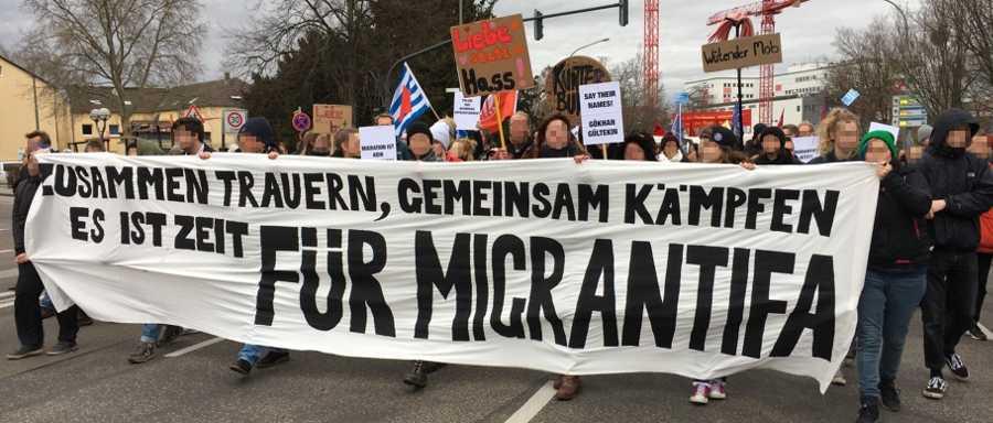 Demo gegen Rassismus in Hanau, 22. Februar 2020 (Foto: R. Hoffmann)