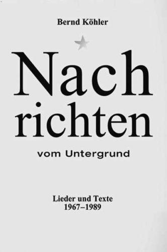 """Bucheinband """"Nachrichten Vom Untergrund"""