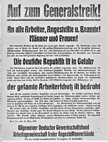 Gewerkschaftsaufruf zum Generalstreik (Abbildung: Privatarchiv)