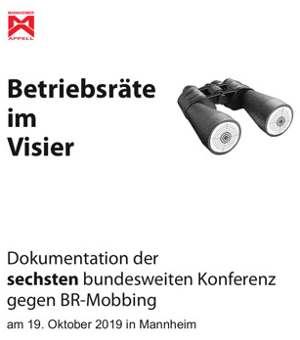 """Einband der Dokumentation der 6. Konferenz """"BR im Visier"""" in Mannheim, 19.20.2019"""