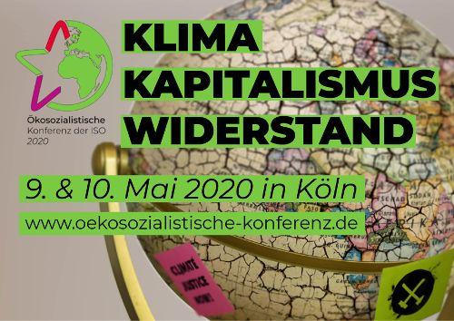 Einladungs-Flyer ökosozialistische Konferenz 2020