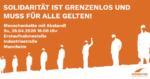 Menschenkette mit Abstand am 26.04.2020